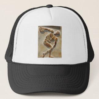 古代ギリシャ人の円盤投げ選手の彫刻 キャップ