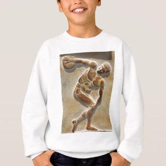 古代ギリシャ人の円盤投げ選手の彫刻 スウェットシャツ