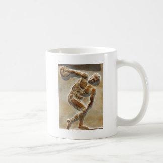 古代ギリシャ人の円盤投げ選手- Discobolus コーヒーマグカップ
