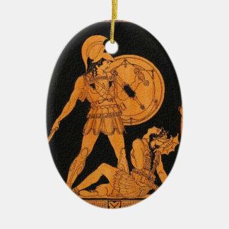 古代ギリシャ人の恋人のクリスマスのオーナメント セラミックオーナメント