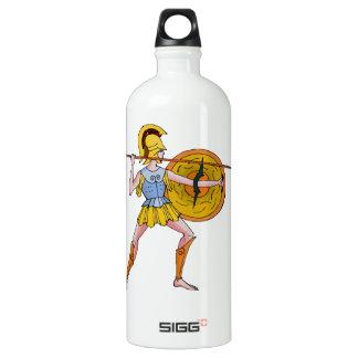 古代ギリシャ人の戦士、 ウォーターボトル
