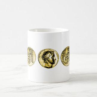 古代ギリシャ人の硬貨のマグ コーヒーマグカップ