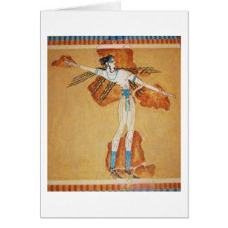 古代クレタのMinoanのフレスコ画の芸術のMinoanの芸術 カード