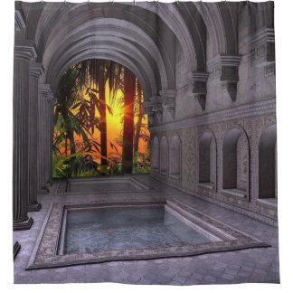 古代スパのシャワー・カーテン シャワーカーテン