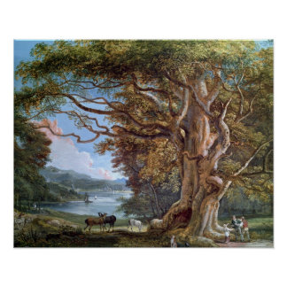 古代ブナの木1794年(キャンバスの油) ポスター