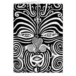 古代マオリのMokoの種族の入れ墨の設計 カード