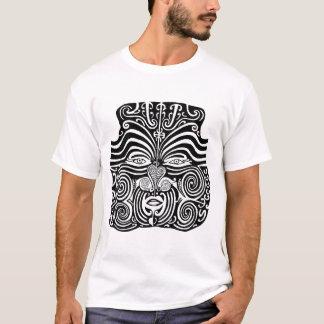 古代マオリのMokoの種族の入れ墨の設計 Tシャツ