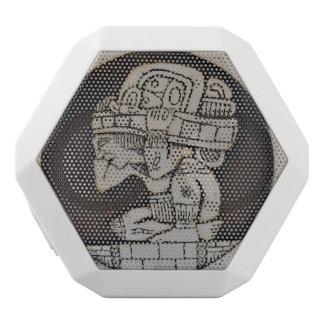 古代マヤの戦士 ホワイトBluetoothスピーカー