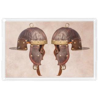 古代ローマの軍のヘルメット アクリルトレー