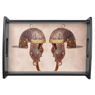 古代ローマの軍のヘルメット トレー