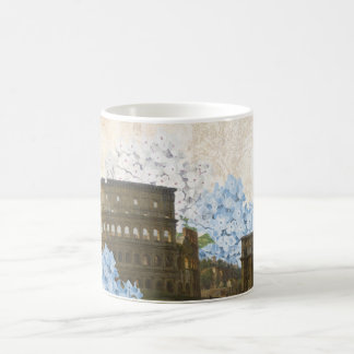 古代ローマの青いアジサイのマグ コーヒーマグカップ