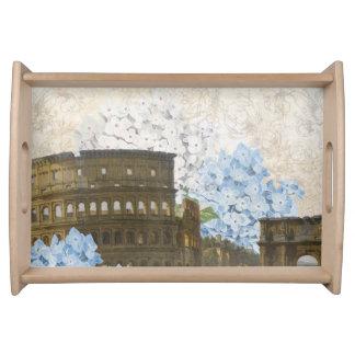 古代ローマの青いアジサイの皿 トレー