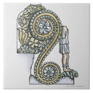 古代ローマアーチからの台形装飾の タイル