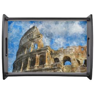 古代ローマイタリアのColosseum トレー