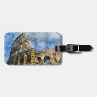 古代ローマイタリアのColosseum ラゲッジタグ