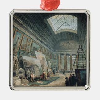 古代ローマ芸術の博物館のギャラリー シルバーカラー正方形オーナメント