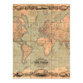 古代世界地図4 ポストカード