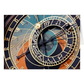 古代中世占星術のな時計チェコ カード