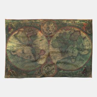 古代地図の台所タオル キッチンタオル