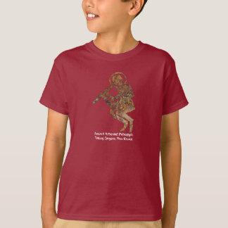 古代宇宙飛行士の岩石彫刻 Tシャツ