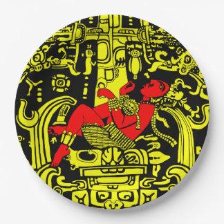 古代宇宙飛行士の-黄色及び赤い版 ペーパープレート