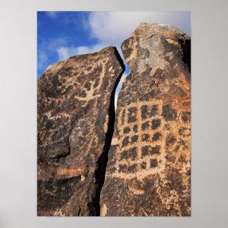 古代岩石彫刻 ポスター