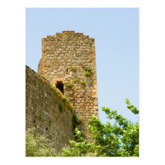 古代建物の低い角度眺め、 ポストカード