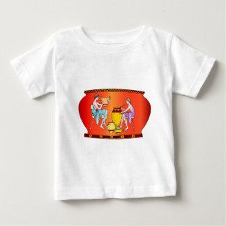 古代文明、陶器からのデザイン ベビーTシャツ