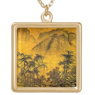 古代景色 ゴールドプレートネックレス