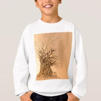 古代木のスケッチ スウェットシャツ