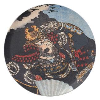古代武士の絵画 プレート