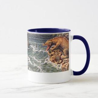 古代海の創造物の旧式なプリント マグカップ
