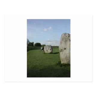 古代石造りの円。 Avebury、ウィルトシャー、イギリス ポストカード