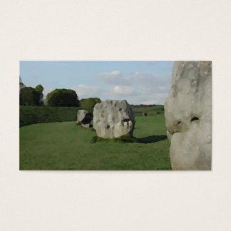 古代石造りの円。 Avebury、ウィルトシャー、イギリス 名刺