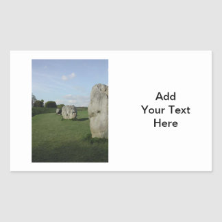 古代石造りの円。 Avebury、ウィルトシャー、イギリス 長方形シール