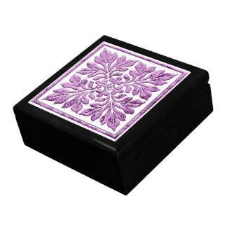古代英国のタイルの暖かく柔らかい紫色 ギフトボックス