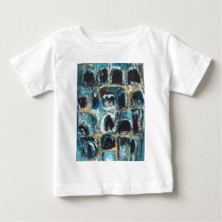 古代青い洞窟(抽象的表現主義) ベビーTシャツ