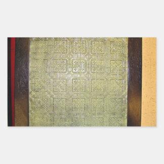 古代 モザイク 床 質 長方形シール・ステッカー