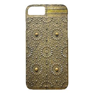 古代Kaabaの真鍮の銅のアラベスクパターンドア iPhone 8/7ケース