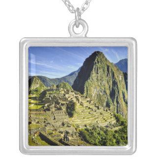 古代Machu Picchuのの最後の非難 シルバープレートネックレス