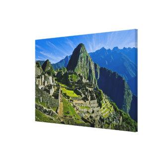 古代Machu Picchuの2の最後の非難 キャンバスプリント