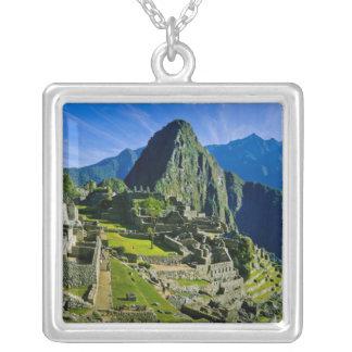 古代Machu Picchuの2の最後の非難 シルバープレートネックレス
