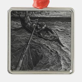 「古代Marinerの霜からの場面 メタルオーナメント