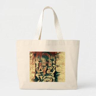 古代ShivaおよびParvati ラージトートバッグ