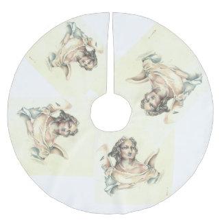古典的な天使の木のスカート ブラッシュドポリエステルツリースカート