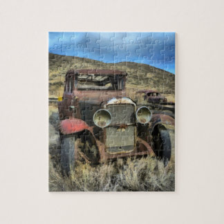 古顔の自動車 ジグソーパズル