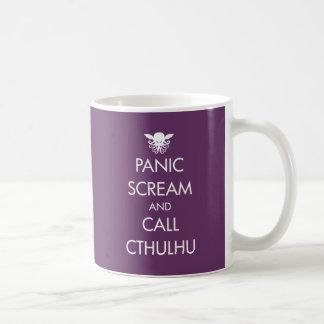 叫びのパニックおよび呼出しCthulhu コーヒーマグカップ