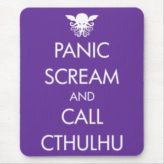 叫びのパニックおよび呼出しCthulhu マウスパッド