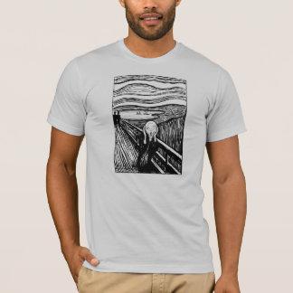 叫びの石版印刷のTシャツを食べて下さい Tシャツ