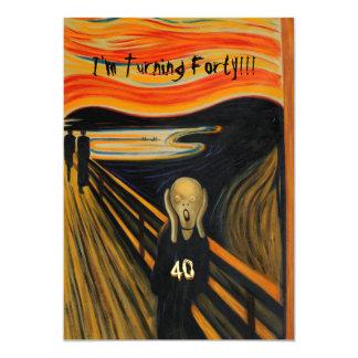 叫び-おもしろいな第40誕生日 カード